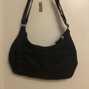 Black lightweight crossbody bag